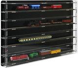Modeltreinvitrine TT-Spoor zwart