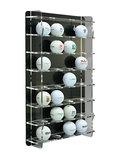 Golfbalvitrine 32 stuks zwart
