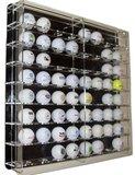 Golfbalvitrine 64 stuks zwart
